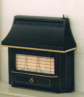 Outset Gas Fires Black Beauty Radiant Fire