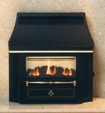 Outset Gas Fires Slimline Black Beauty