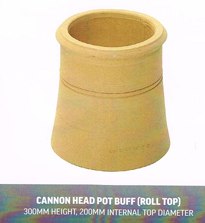CHIMNEY POTS CANNON BUFF HEAD POT