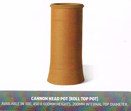 CHIMNEY POTS ROLL TOP POT