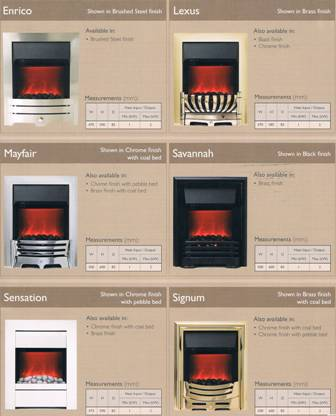 Inset Electric Fires FREE STANDING OR SEMI /FULLY INSET ELECTRIC FIRES.
