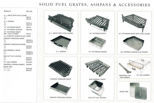 SOILD FUEL RANGE OF ACCESSORIES SOLID FUEL GRATES AND ACC