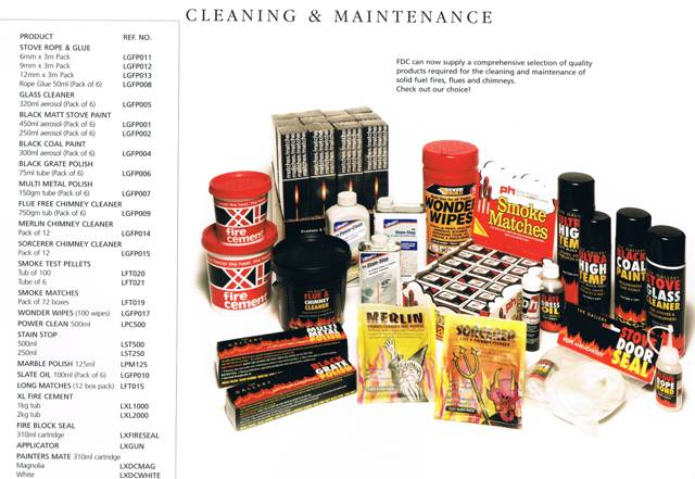 SOILD FUEL RANGE OF ACCESSORIES CLEANING AND MAINTENANCE